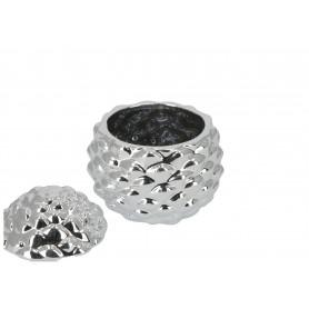 Ceramika pojemnik Szyszka srebrna