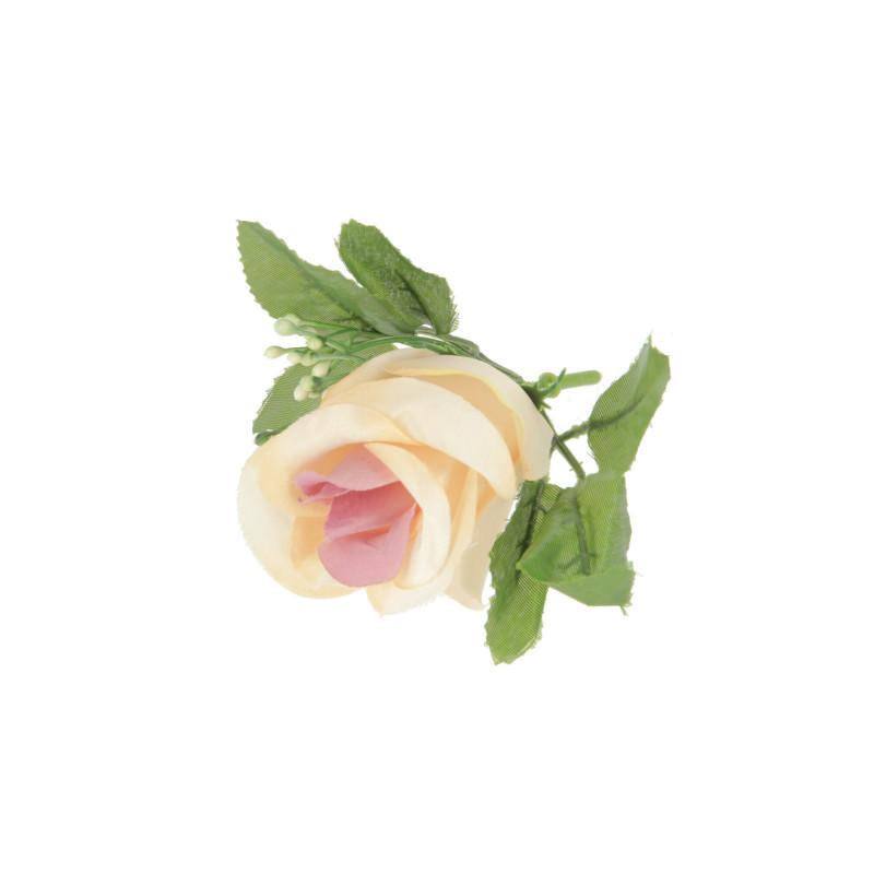 Kwiaty sztuczne róża z liściem