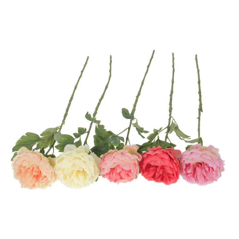 Kwiaty sztuczne peonia pojedyńcza