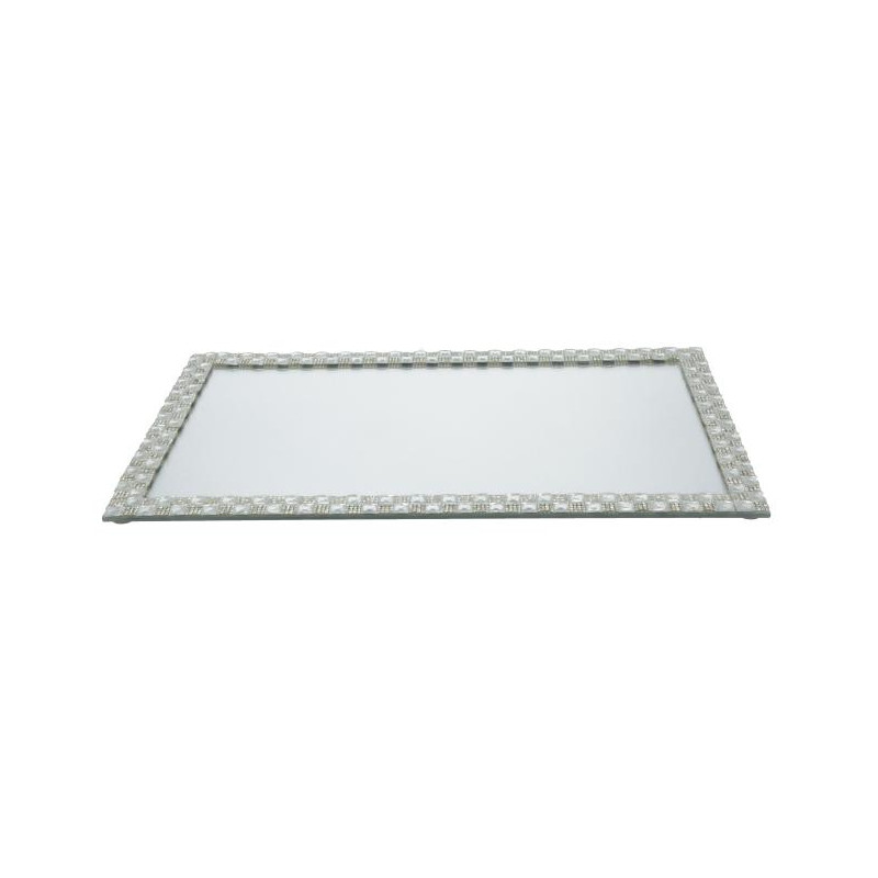 Szklana podstawka pod świecę 32x16x1cm
