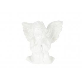 Gipsowy aniołek modlący mały biały