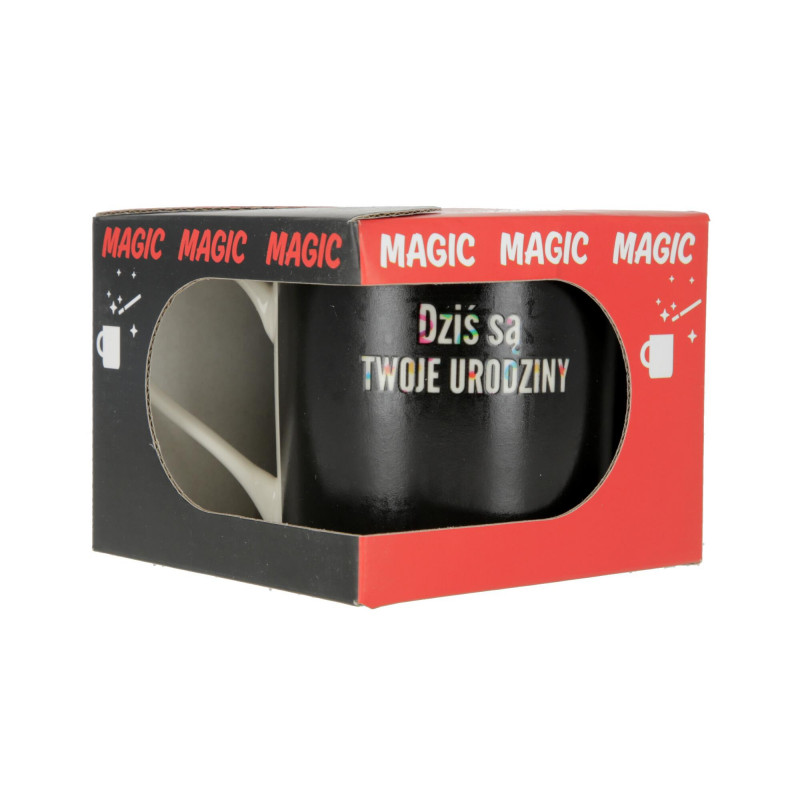 Ceramiczny kubek MAGICZNY szeroki 370ml