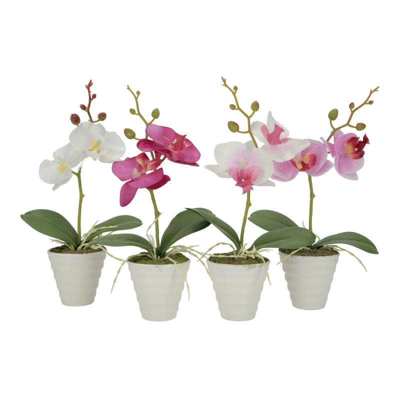 Kwiaty sztuczne storczyk w donicy 23,5cm