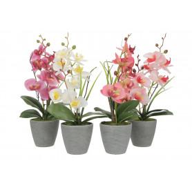 Kwiaty sztuczne storczyk w donicy 41,5cm