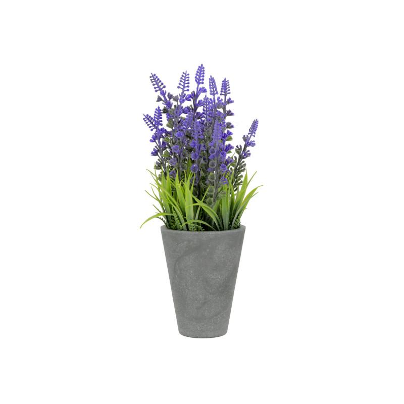 Kwiaty sztuczne lawenda w donicy 26,5cm