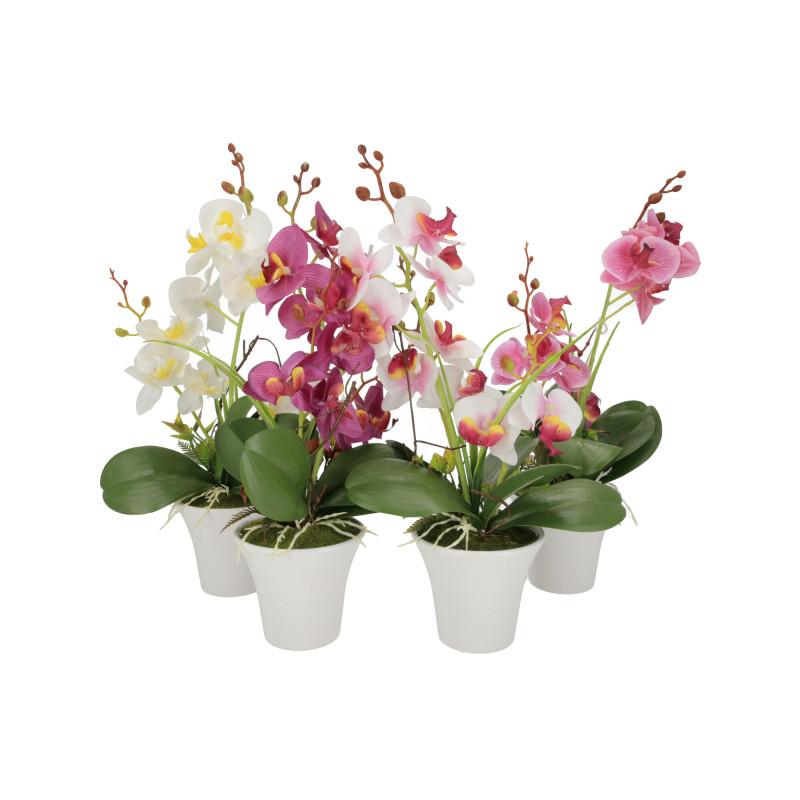 Kwiaty sztuczne storczyk w donicy 45cm