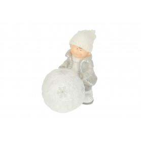 Bożonarodzeniowa figura dziecko z kulą