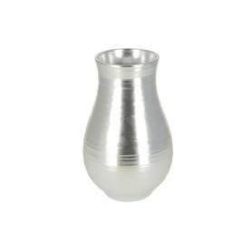 Ceramiczny wazon srebrny