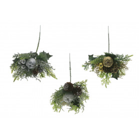 Kwiaty sztuczne pik świąteczny mix