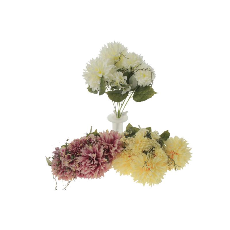 Kwiaty sztuczne chryzantema bukiet x12