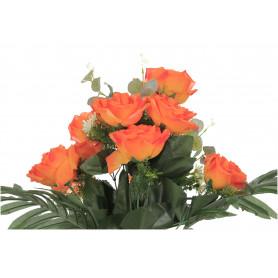Kwiaty sztuczne bukiet róż z bluszczem
