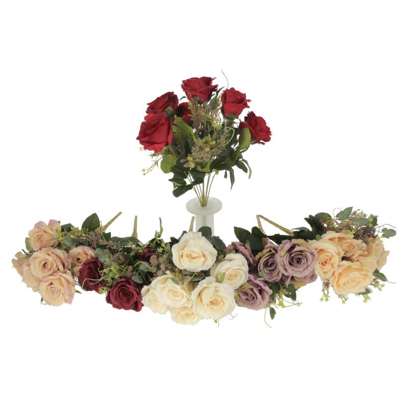 Kwiaty sztuczne bukiet dużych róż