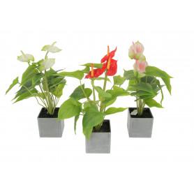 Kwiaty sztuczne anturium w doniczce