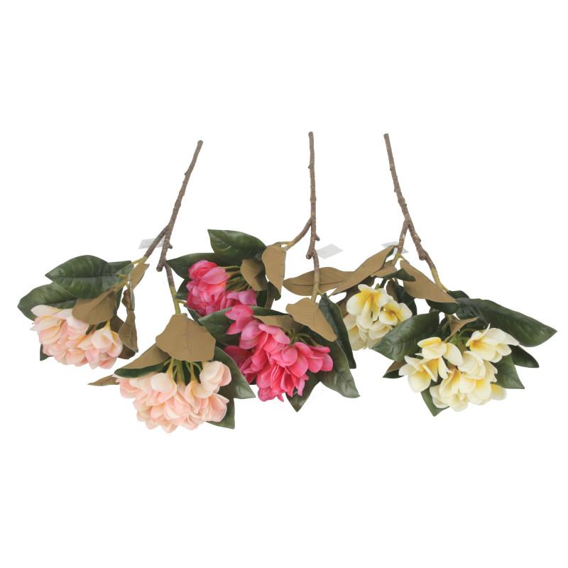 Kwiaty sztuczne gałązka plumeria
