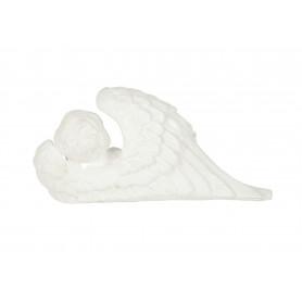 Gipsowy aniołek skrzydło biały