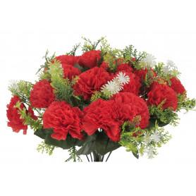 Kwiaty sztuczne bukiet goździk