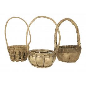 Wiklinowy koszyk 15cm złocony