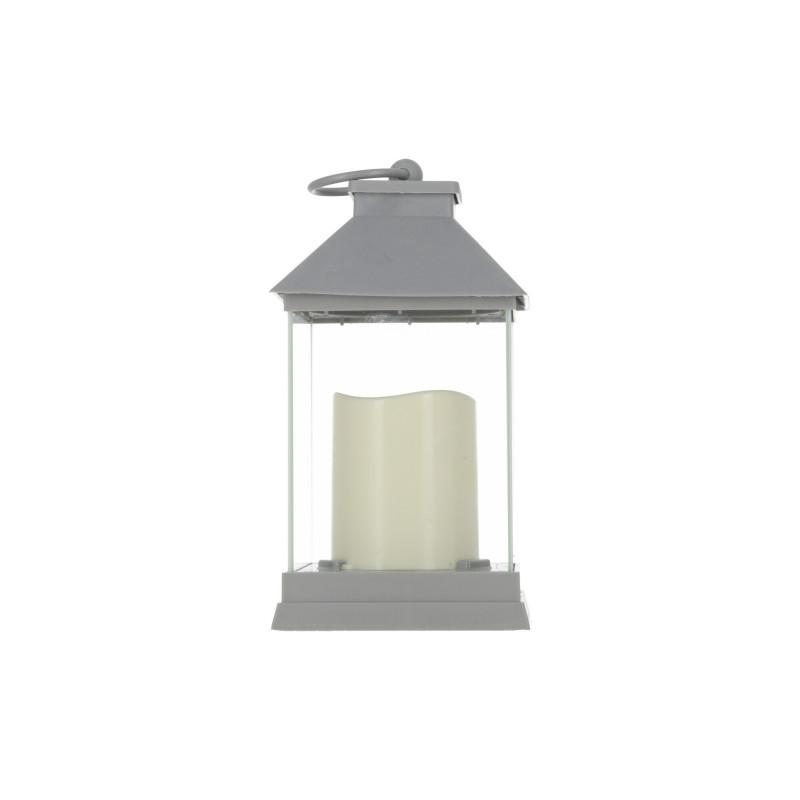 Tw.sztuczne latarenka led ze świecą grey
