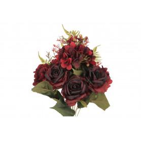 Kwiaty sztuczne kompozycja róża hortensj
