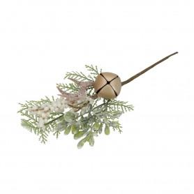 Ośnieżona gałązka z dzwonkiem