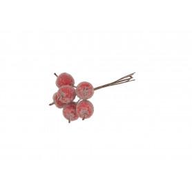 Kwiaty sztuczne pęczek jabłuszek x6