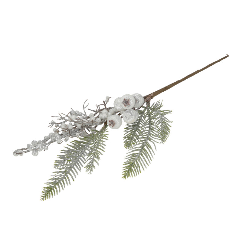 Kwiaty sztuczne gałązka z głogami w brok