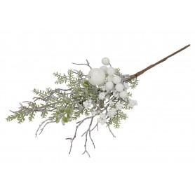 Kwiaty sztuczne gałązka biała głogi