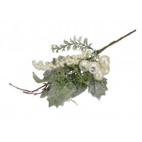 Kwiaty sztuczne gałązka głogi kulki 34cm
