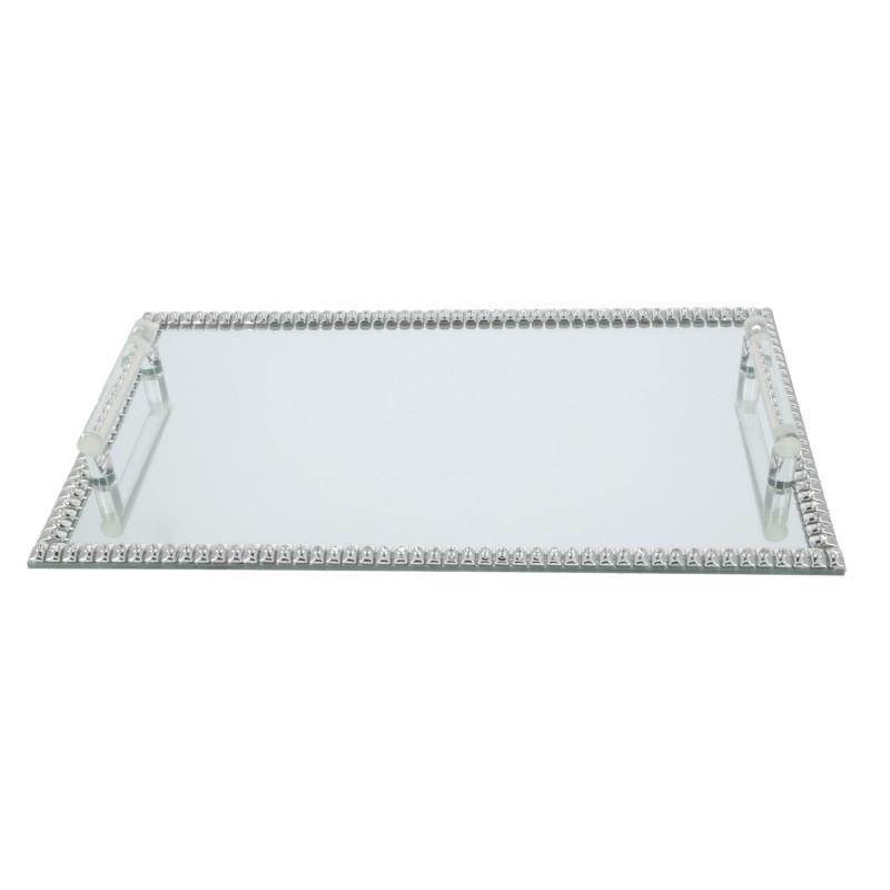 Szklana podstawka pod świece 40x24x3,5cm