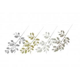 Kwiaty sztuczne liść brokatowy