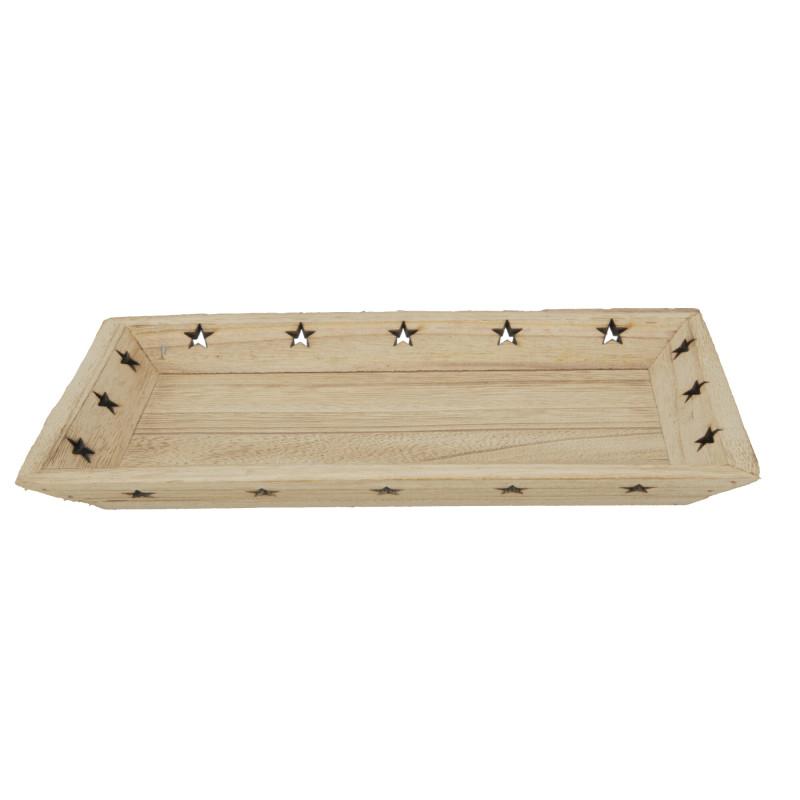 Drewniana taca z gwaizdami