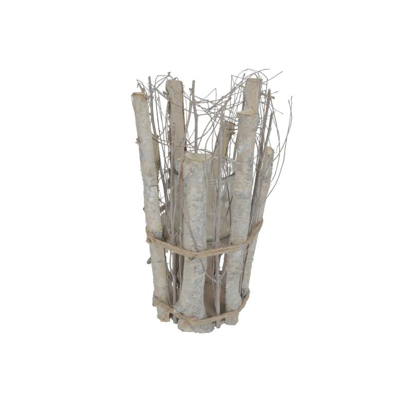 Wiklinowa doniczka ze szkłem