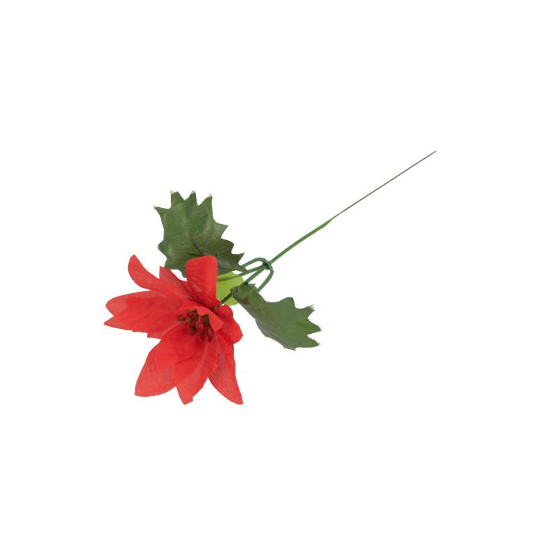 Kwiaty sztuczne poinsetia na piku
