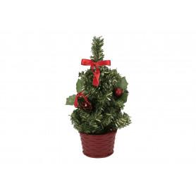 Bożonarodzeniowa choinka z ozdobami.