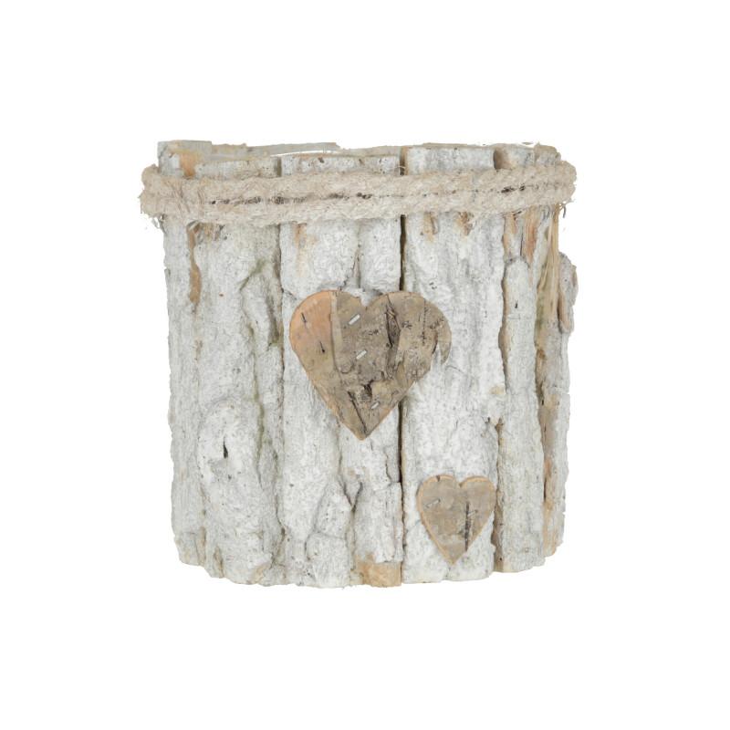 Drewniana doniczka z PVC