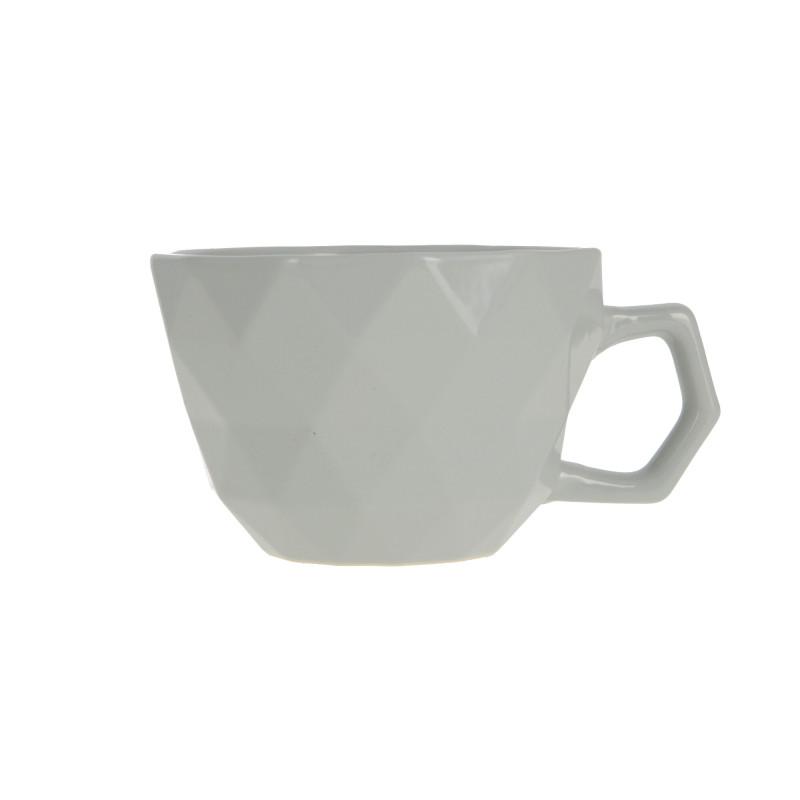 Ceramiczny kubek ADEL 400ml light grey