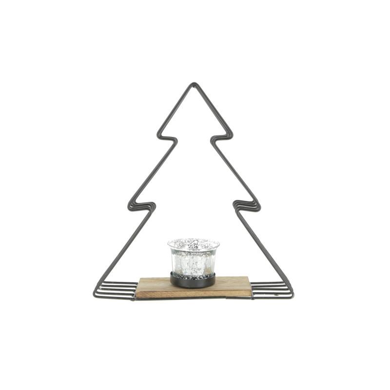 Metalowy świecznik choinka