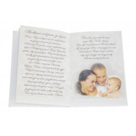 Papierowa książeczka satynowa tłoczona