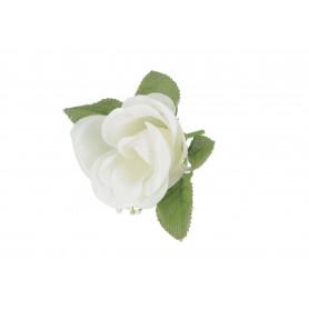 Główka Róży z liściem