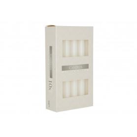 Świeca stołowa biała S1090