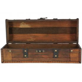 Drewniana skrzynka na wino 35x12x12cm AW54