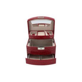 Drewniany kuferek na biżuterię P028123