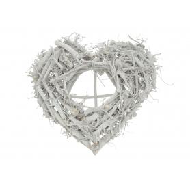 Drewniany świecznik serce 48364 SPS-4040H9B