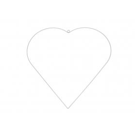 Metalowa zawieszka Serce białe 01425 ZAW-SER55554B
