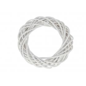 Wiklinowy wianek biały 3550 WB-WIL30