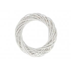 Wiklinowy wianek biały 45 cm. 24101 WB-WIL45