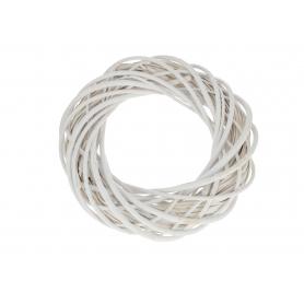 Wiklinowy wianek biały 4080 WB-WIL35