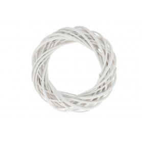 Wiklinowy wianek biały 24100 WB-WIL20