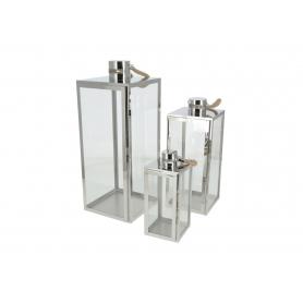 Metal komplet 3 latarni Luciano Silver HTO0464
