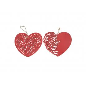 Twe.sztuczne zawieszka serce red